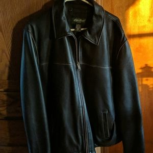 Men's Eddie Bauer leather jacket Large Tall